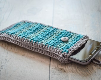 Moss Stitch Smartphone Cover. 120 Colour Options. Handmade to Order.
