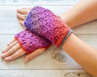 C2C Fingerless Gloves. 23 Colour Options. Handmade to Order.