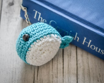 William the Whale Animal Hook Bookmark. 120 Colour Options. Handmade to Order.