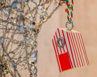 Beach Hut Christmas Tree Hanger. 44 Colour Options. Handmade to Order.