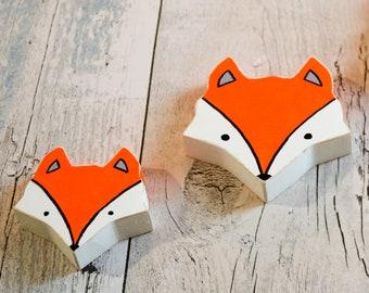 Mother & Baby Fox Head Wall Art. Handmade to Order.