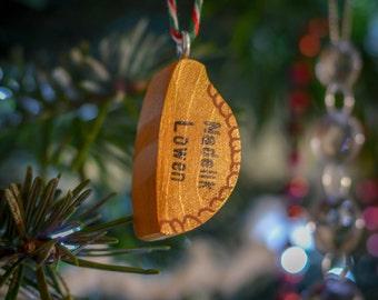 Cornish Pasty Christmas Tree Hanger. 90 Colour Options. Handmade to Order.