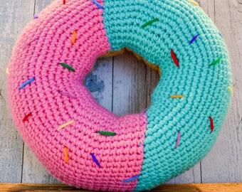 Large Doughnut Cushion. 45 Colour Options. Handmade to Order.