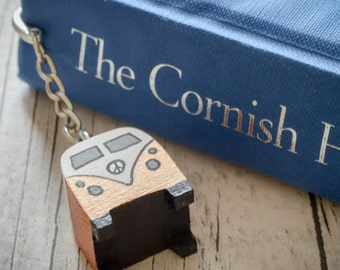 Classic Campervan Front View Hook Bookmark. 90 Colour Options. Handmade to Order.