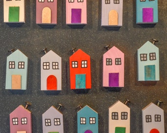 Cornish Country Cottage Refrigerator Magnet. 4 Styles. 90 Colour Options. Handmade to Order.