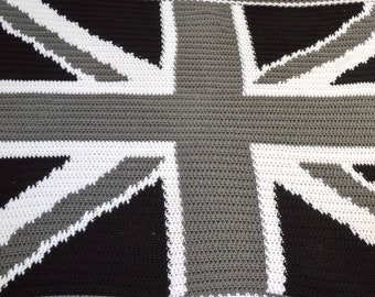 National Flag Design Crochet Bed Throw Cover. Choose from Three Sizes. Handmade to Order.