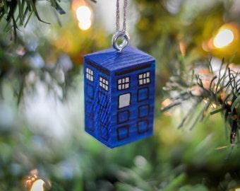 Dr Who Tardis Christmas Tree Hanger. Handmade to Order.