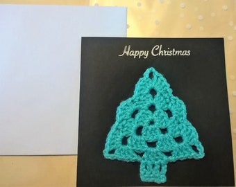 Happy Christmas Card. 143 Colour Options. Handmade to Order.