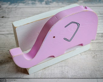 Evie the Elephant Letter Rack. 90 Colour Options. Handmade to Order.