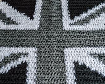 Patriotic National Flag Baby Blanket. 91x76cm (35.82x29.92in) Handmade to Order.