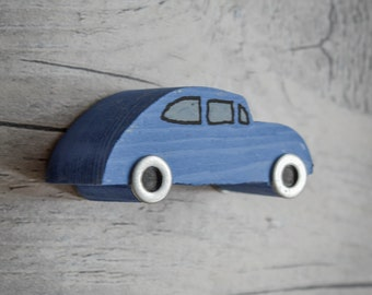 Iconic 60's Car Side View Refrigerator Magnet. 90 Colour Options. Handmade to Order.