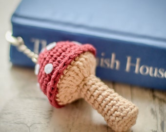 Mushroom or Toadstool Hook Bookmark. 120 Colour Options. Handmade to Order.