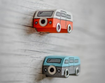 Classic Campervan Side View Refrigerator Magnet. 90 Colour Options. Handmade to Order.
