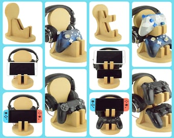 Gaming Controller and Headphone Stands. 90 Colour Options. Handmade to Order.