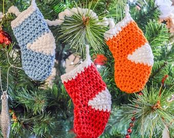 Christmas Stocking Sock Christmas Tree Decoration. 120 Colour Options. Handmade to Order.
