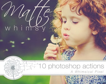 Matte Photoshop Actions | Instant Download | Matte Photo Effect