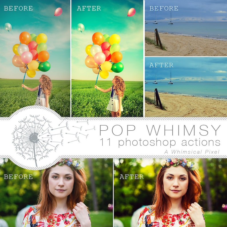 Color Pop Photoshop Actions  Instant Download  Brightening image 0