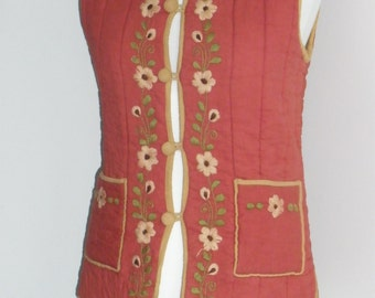 Vintage 1960's quilted Waistcoat/Gillet