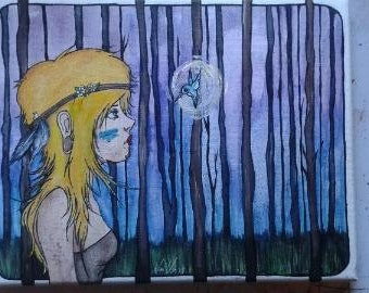 LOST GIRL canvas painting