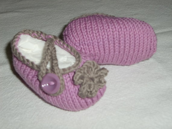 Kyfvewy Baby Ballet Shoes Pdf Knitting Pattern In Sizes Etsy