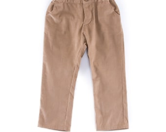 Baby trousers in beige corduroy