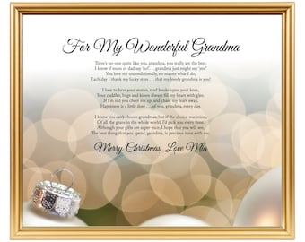 Gift For Grandparents Gift For Grandad Poem For Grandma Etsy