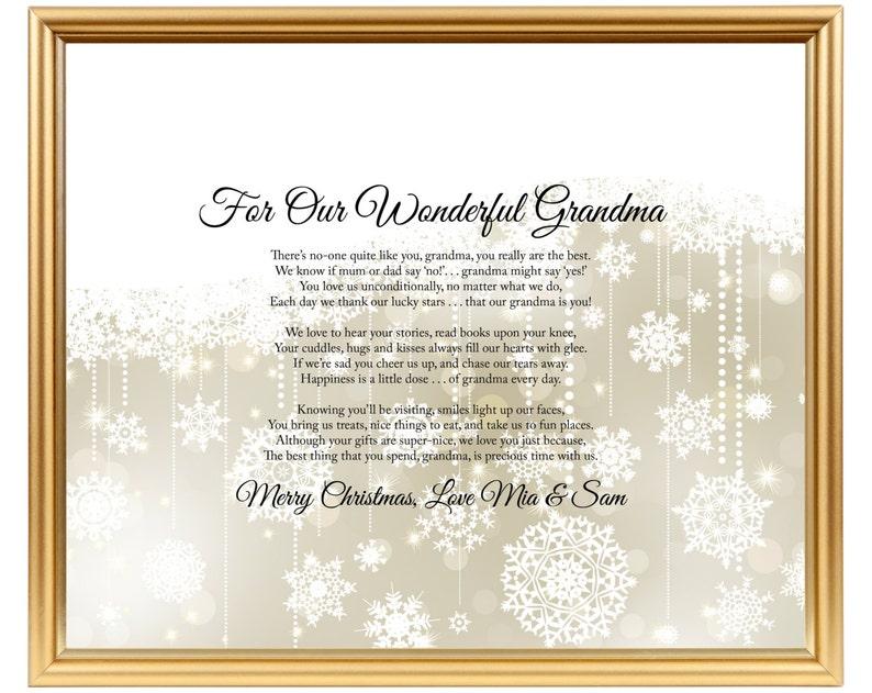 Oma Gedicht Geschenk Personalisierte Gedicht Oma Oma Gedicht Etsy