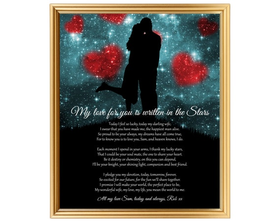 Gift Poem Personalized For My Wife Wedding Gift Personalized Etsy