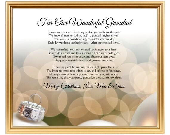 Opa Gedicht Geschenk Weihnachten / Gedicht für Opa | Etsy