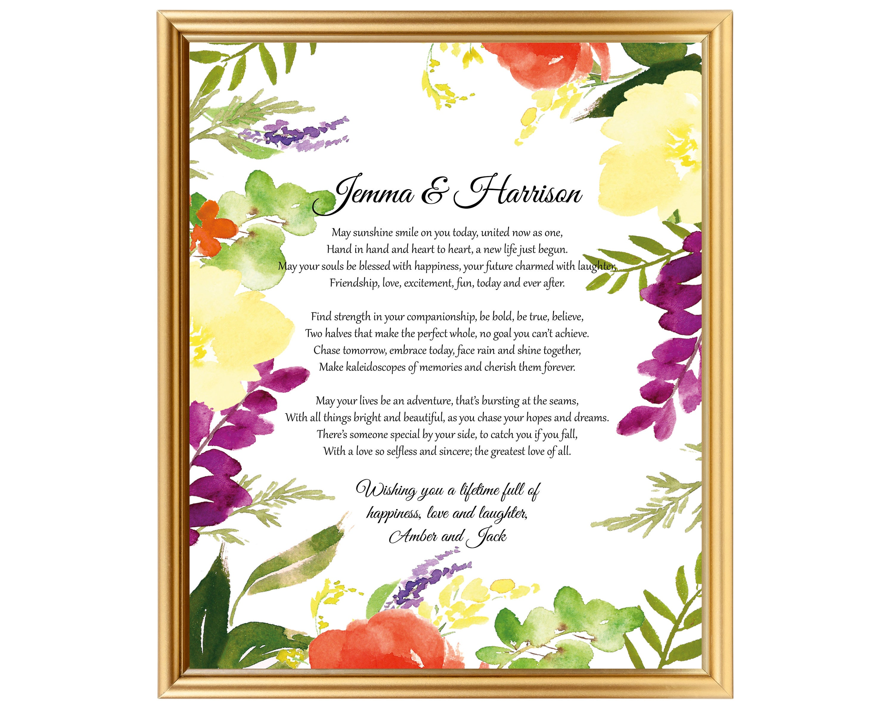 Gift For Newly Wed: Poem Gift For Married Couple Newly Wed Gifts Gift For