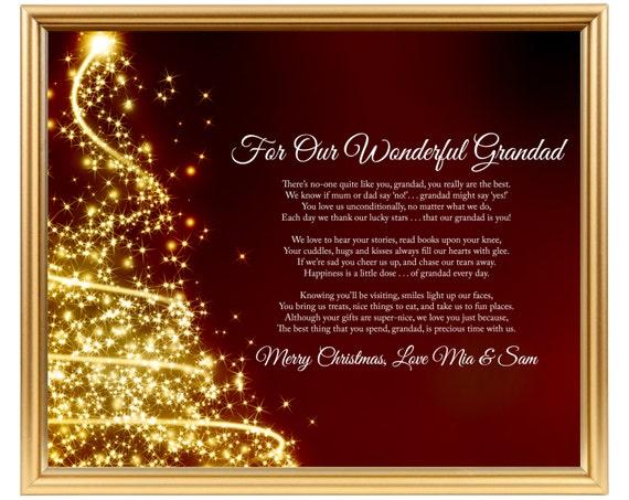 opa gedicht geschenk weihnachten personalisierte gedicht f r etsy