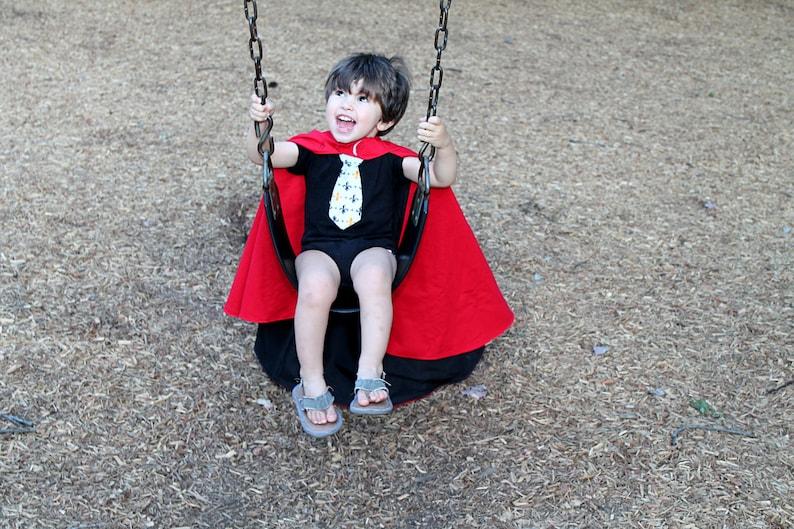 Reversible Kid's Hooded Cape Sewing Pattern, Toddler superhero cape  tutorial, children's sewing pattern Digital Download PDF