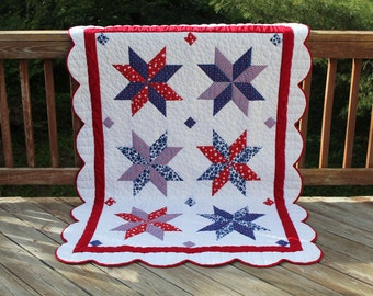 American Quilt Pattern Patriotic, PDF Digital Download