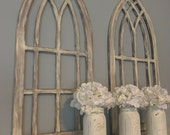 Distressed arched frames set of two