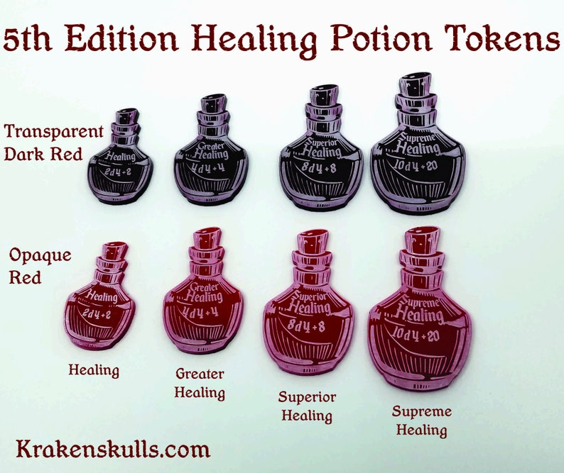 D&D 5th Edition Healing Potion Tokens