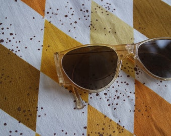 7f1b08be96 Vintage 1930s Clear Celluloid Sunglasses - Vintage Made in USA Early  Plastic Sunglasses - Celluoid Sunnies - Beach Wear