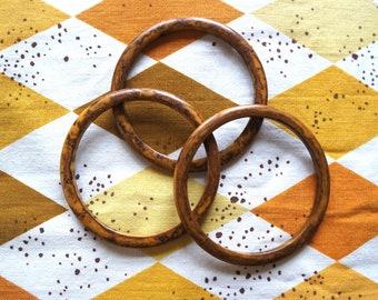 Vintage 1940s/50s Set of Three Butterscotch Bakelite Bangles - Swirled Bakelite - Vintage Bakelite Bracelet