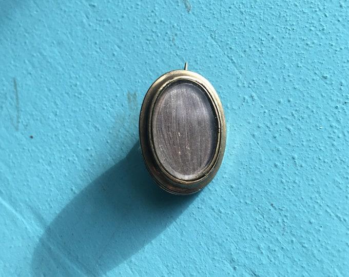 Antique Victorian Gold Fill Brooch - Human Hair Pin Brooch - Antique Victorian Jewelry - Human Hair Jewelry