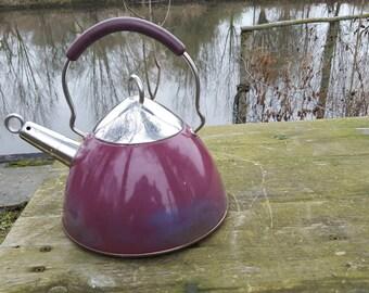 Vintage metal kettle year 60