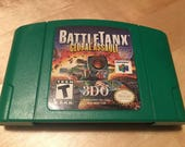 Battle Tanxs Global Assault Official Nintendo 64 Game Cartridge N64 Collectible Cleaned and Tested