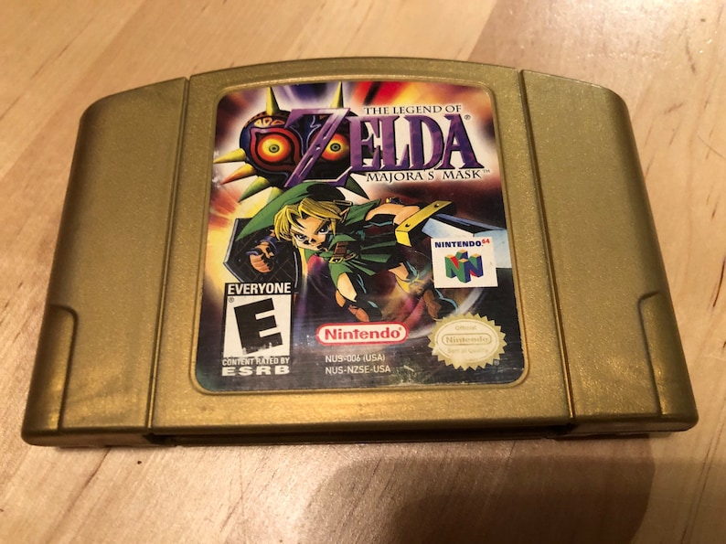 Gold Zelda Majora's Mask Collector's Edition Game Cartridge | Authentic  Nintendo 64 | N64 | Collectible 3D Label | Cleaned and Tested