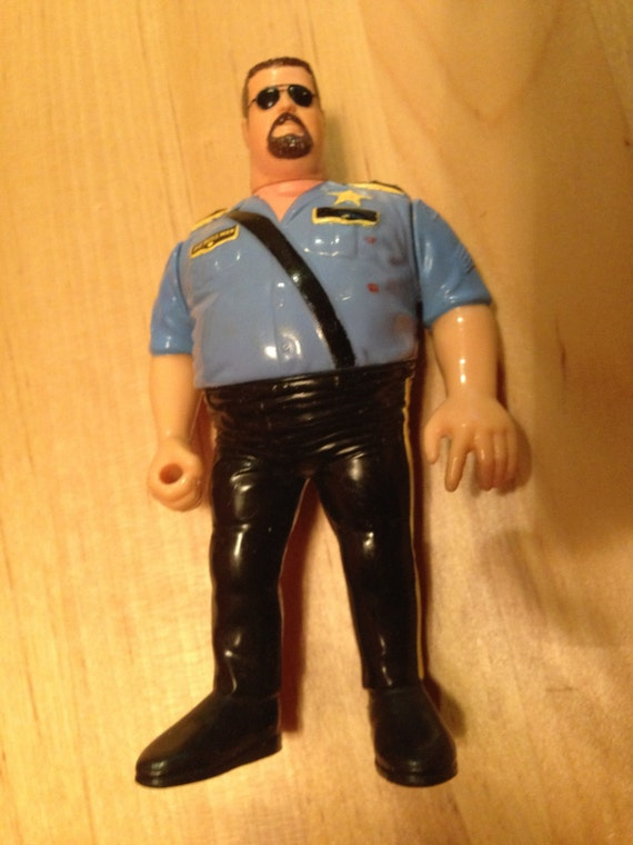Vintage Wwf Hasbro Wrestler Action Figure The Big Boss Man Wwe Collectable Wcw