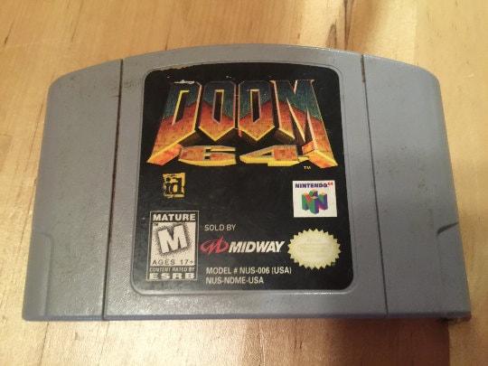 Doom 64   Nintendo 64 Game Cartridge   N64   Colectable Video Game