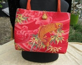 Handmade tote bag or shoulder bag, Asian Style Bag