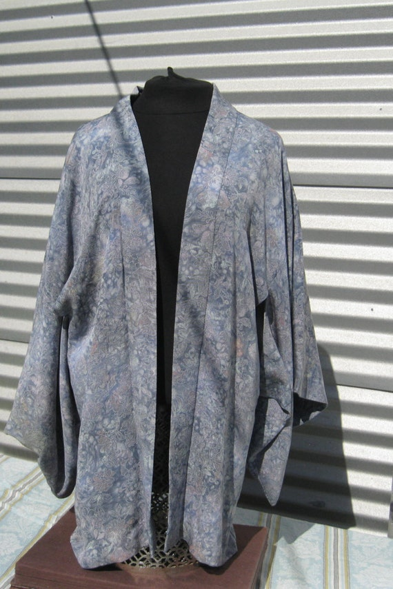 Vintage Kimono, Handmade Silk Kimono,Lavender Kimo