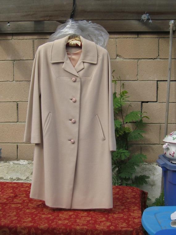 Gorgeous Cashmere Overcoat, Mid Century Cashmere C