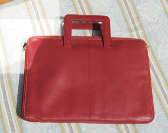 Red  Sachel,Padded Carrying Case