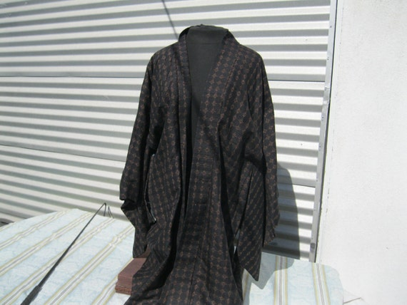 Vintage Kimono, Silk Kimono, Handmade vintage kimo