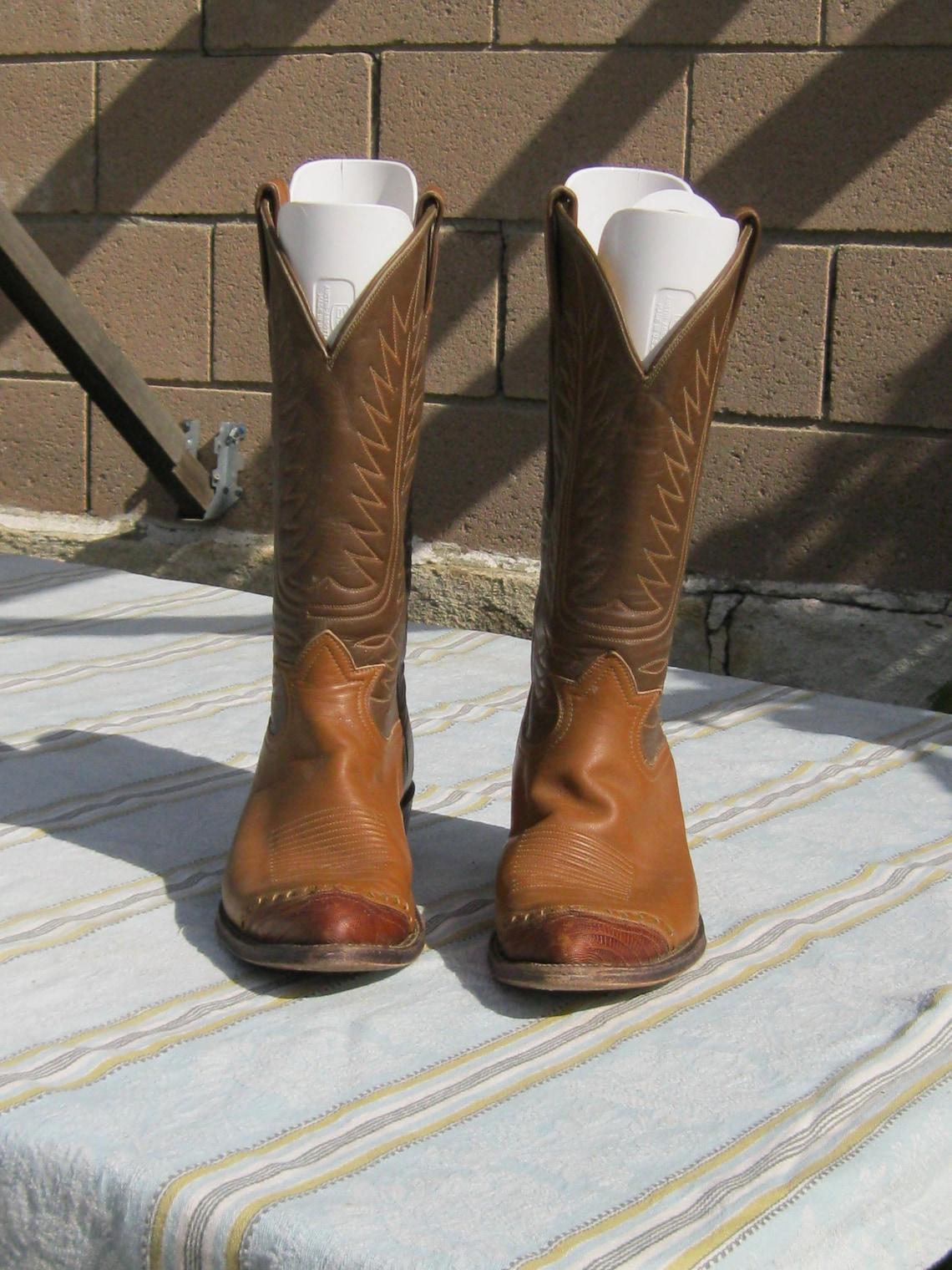 Rare Tony Lama Vintage Cowboy Boots Mens Sz 9d - Big Sale N5sh9