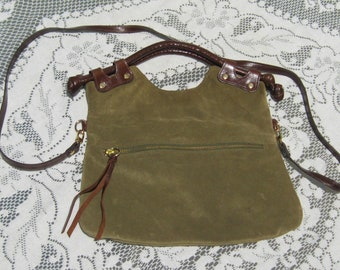 Pietro Alessandro Brown Suede Shoulder or Top Handle Bag